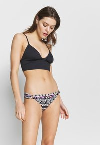 LASCANA - PANTS RING - Bikini bottoms - black/cream - 1