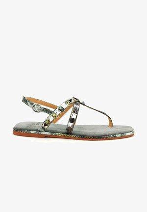 VIRUCA - T-bar sandals - green