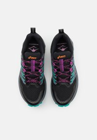 ASICS - GEL-TRABUCO TERRA - Løpesko for mark - black/digital grape - 3