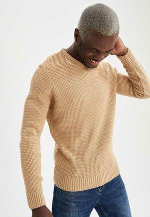 SLIM FIT  - Jersey de punto - beige