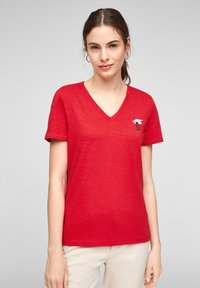 s.Oliver - Print T-shirt - red - 5