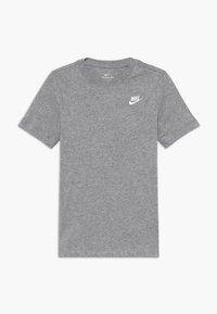 Nike Sportswear - TEE FUTURA - Camiseta básica - grey heather/white - 0
