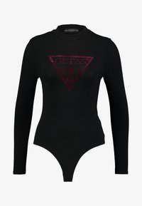 Guess - LEO TRIANGLE BODY - Long sleeved top - jet black - 3