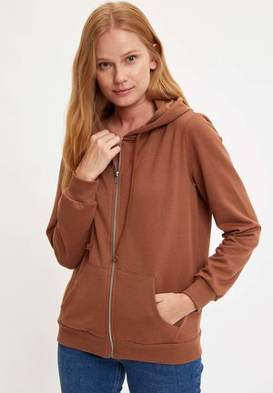 veste en sweat zippée - orange
