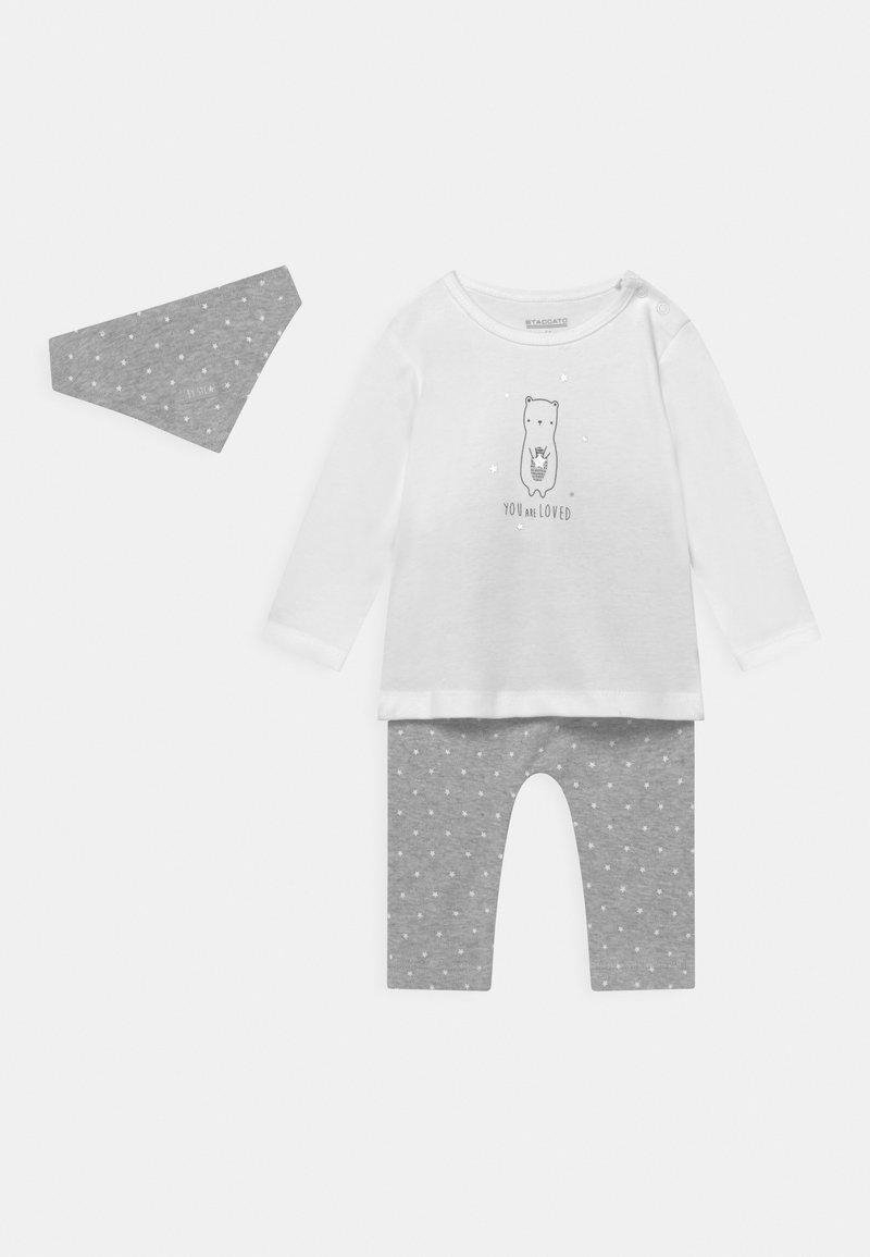 Staccato - SET UNISEX - Trousers - stone grey melange