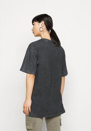DROP SHOULDER OVERSIZED 2 PACK - T-shirt - bas - black