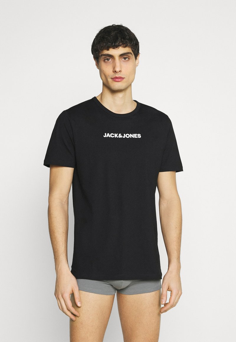 Jack & Jones - JACRAIN TEE 3 PACK - Pyjama top - black