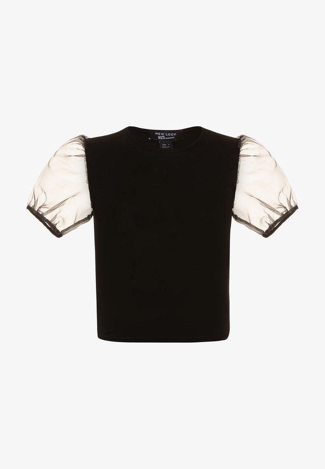 CREW PUFF - T-shirt con stampa - black