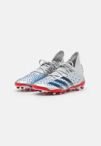 adidas Performance - PREDATOR FREAK .3 MG UNISEX - Kopačky lisovky - silver metallic/core black/roy blue - 1
