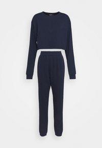 Missguided Tall - CROP JOGGER SET - Sweatshirt - navy - 0
