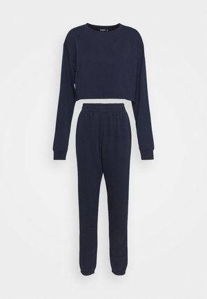 CROP JOGGER SET - Sweatshirt - navy