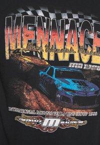 Mennace - WASHED PETROL RACE  - T-shirt imprimé - black - 5