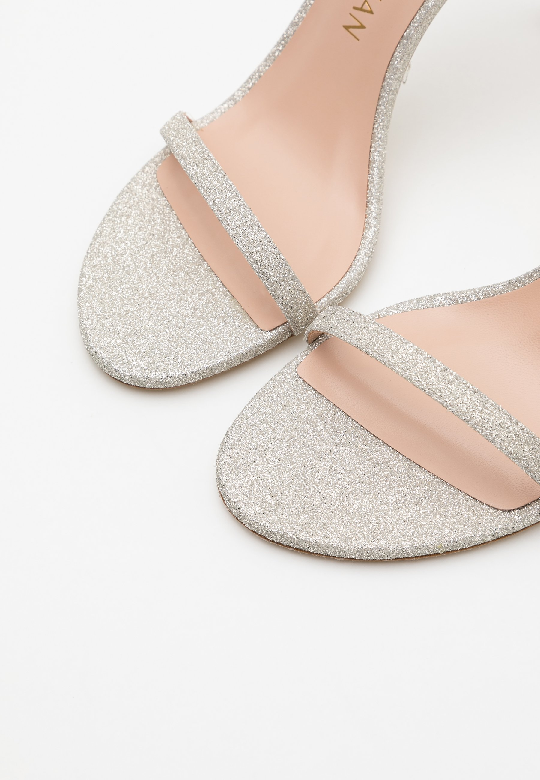 Stuart Weitzman Nudistsong - Højhælede Sandaletter / Sandaler Platino