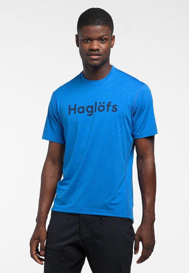 RIDGE TEE - Print T-shirt - storm blue