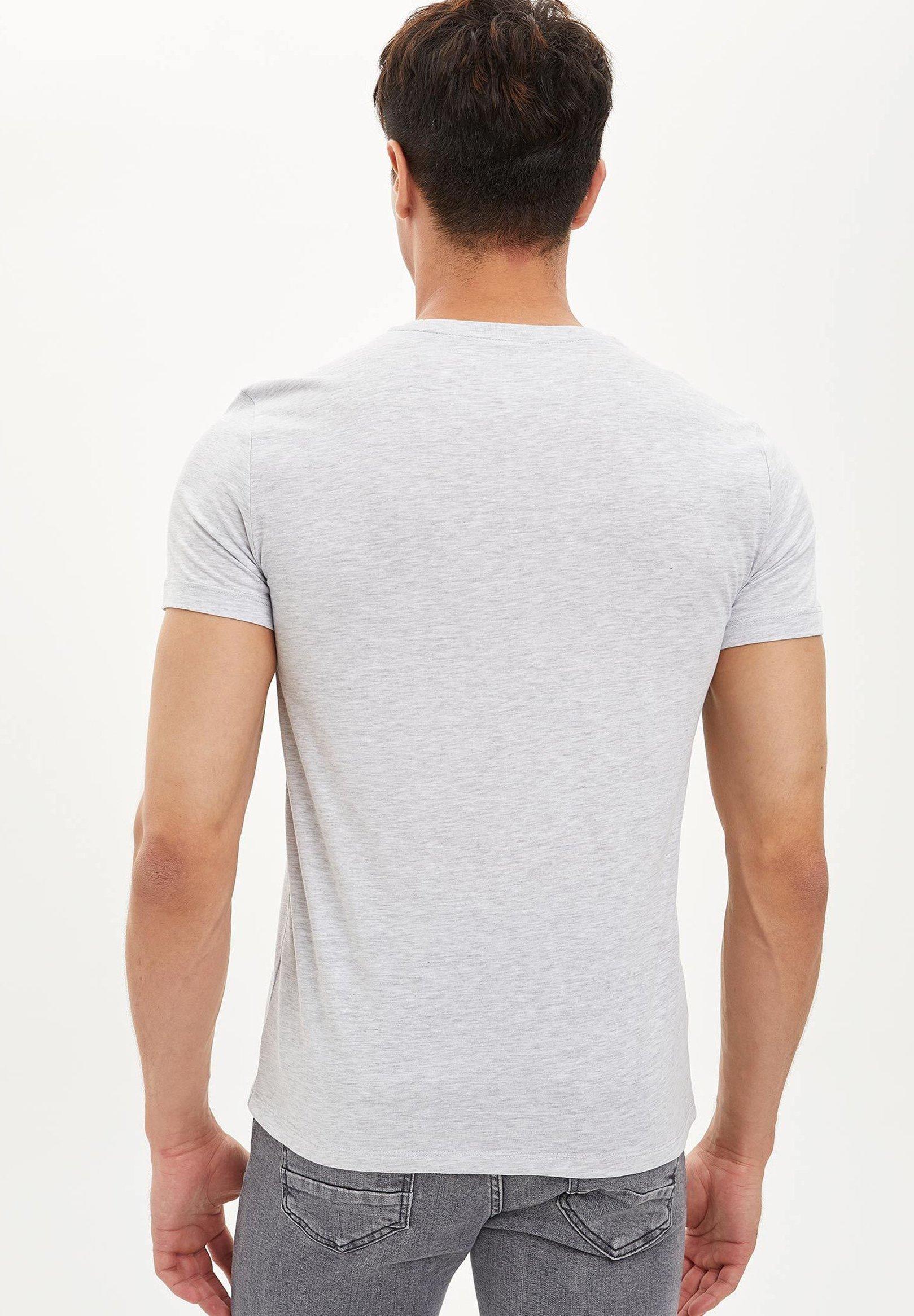 DeFacto Print T-shirt - grey euTvs