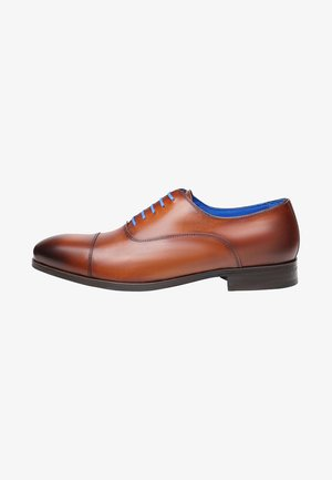 NO. 5571 BL - Smart lace-ups - cognac