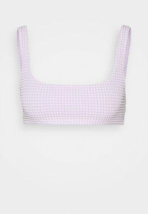 SAND SWIM  - Bikini top - light purple/white
