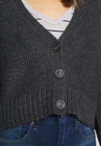 American Eagle - CROPPED SLOUCHY TEXTURE CARDIGAN - Vest - charcoal - 5