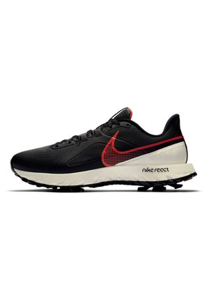 REACT INFINITY PRO - Golf shoes - black/sail/flash crimson