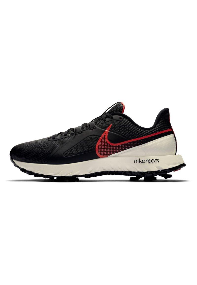 Nike Golf - REACT INFINITY PRO - Golfové boty - black/sail/flash crimson