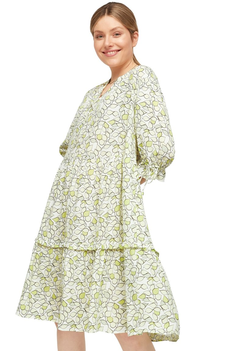 comma casual identity - Day dress - offwhite leaf
