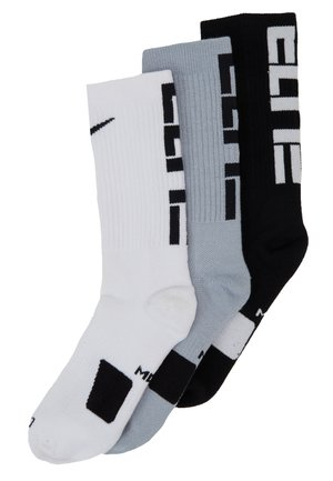 ELITE CREW 3 PACK - Sports socks - black/white