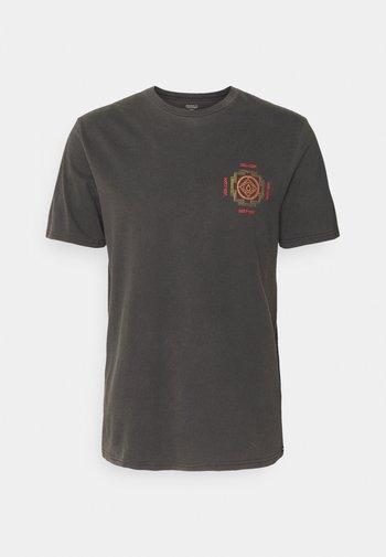 PSYCHONIC S/S TEE - Print T-shirt - black