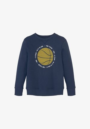 MIT BASKETBALLMOTIV - Sweatshirt - dress blue|blue