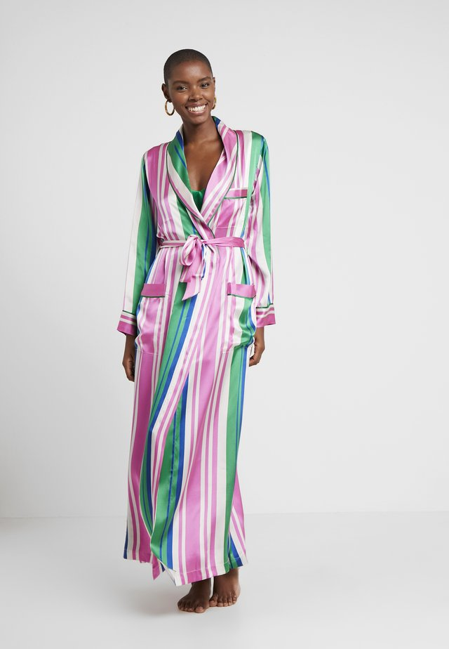 AINSLEY CLASSIC LONG ROBE - Dressing gown - pink/blue/white