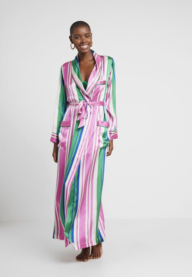 Hesper Fox - AINSLEY CLASSIC LONG ROBE - Badjas - pink/blue/white