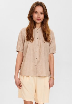 Button-down blouse - warm sand