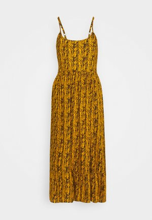 NMBEAGLE CALF DRESS  - Vestido informal - yellow