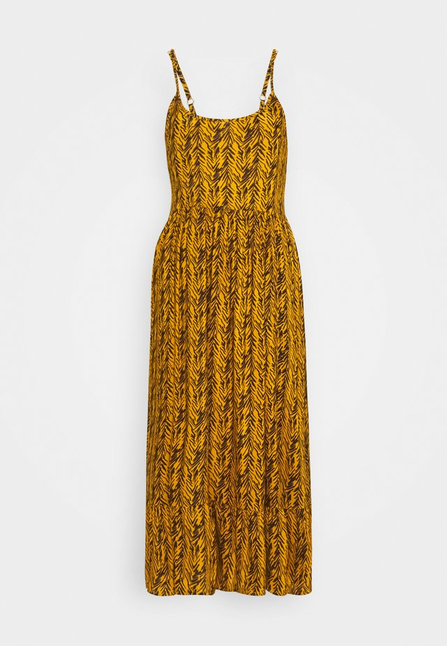 NMBEAGLE CALF DRESS  - Day dress - yellow