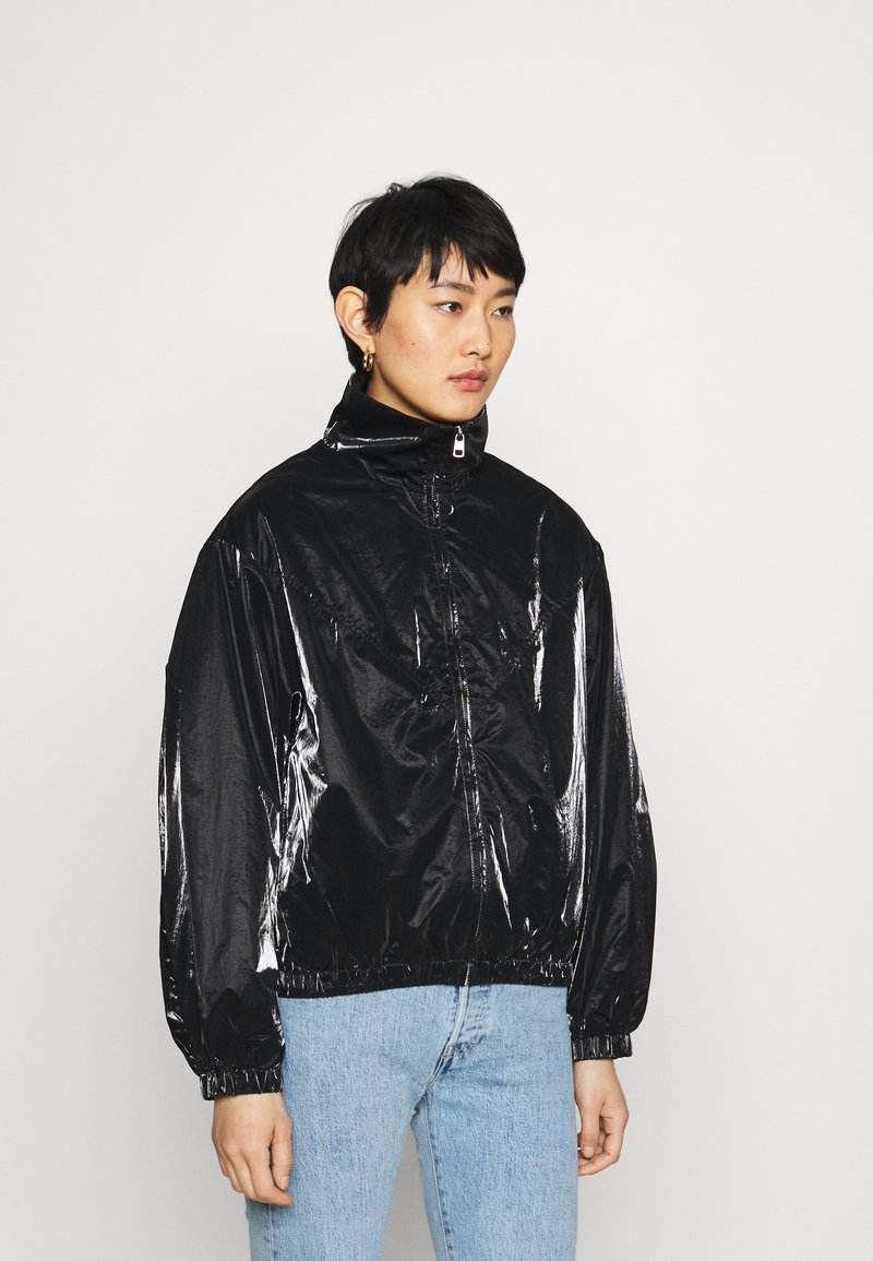Calvin Klein Jeans - ZIP THROUGH - Windbreaker - black