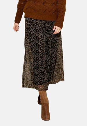 BELEA - Pleated skirt - black mix