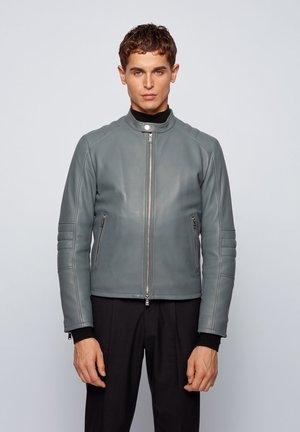 MUBA - Leather jacket - grey