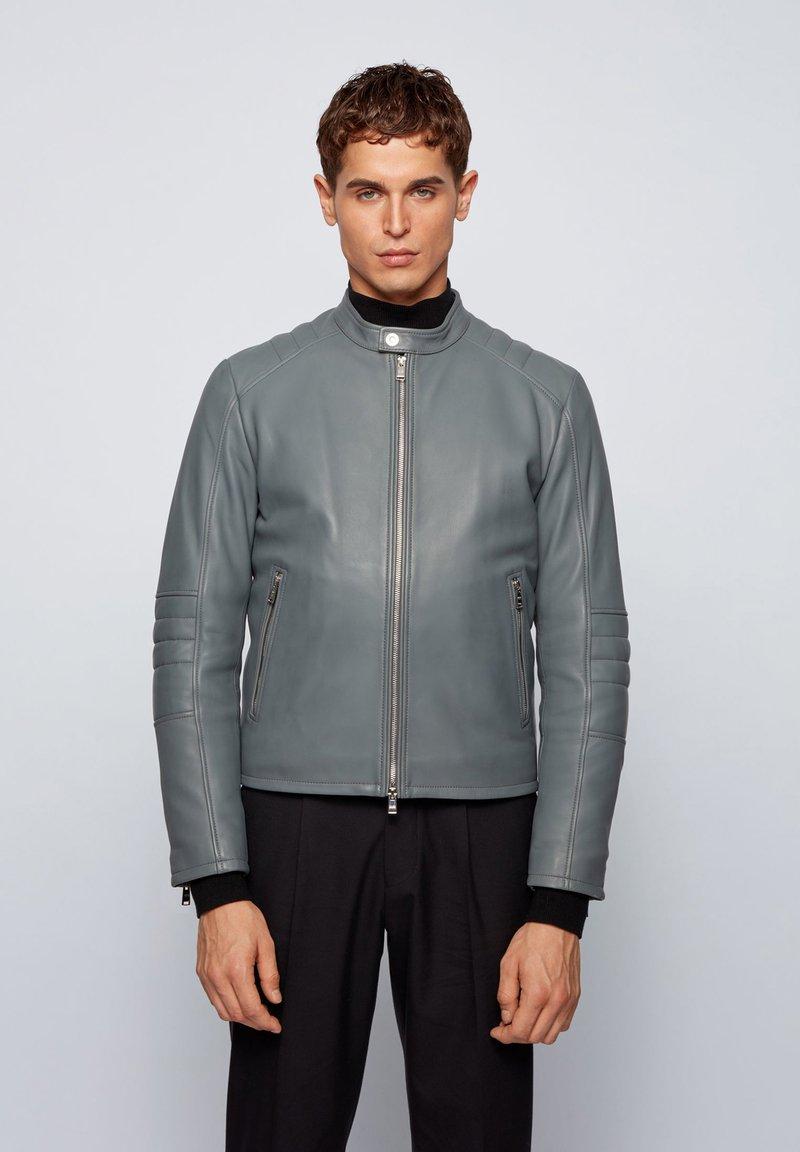 BOSS - MUBA - Leather jacket - grey
