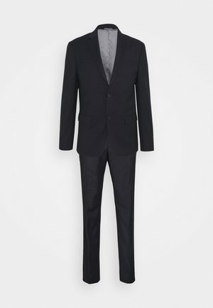 TONAL GRID CHECK EXTRAFINE SUIT - Oblek - navy