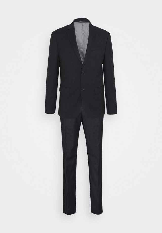 TONAL GRID CHECK EXTRAFINE SUIT - Anzug - navy