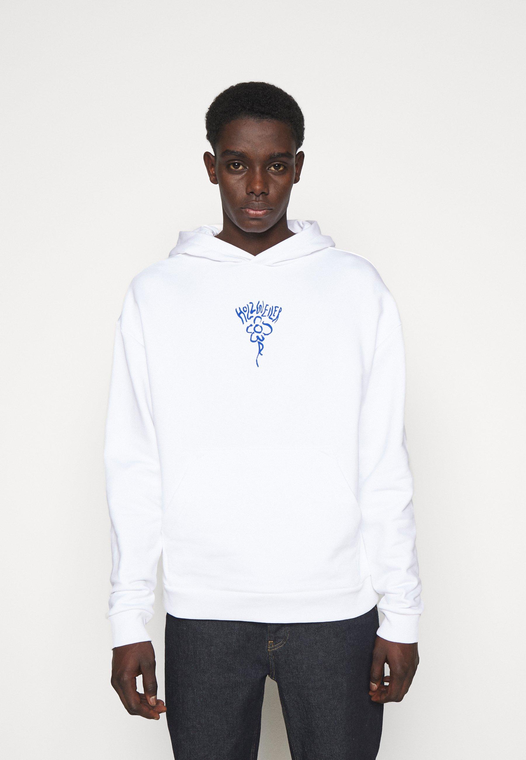 Men CLOSER HOODIE - Sweatshirt - white/blue