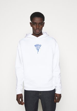 CLOSER HOODIE - Sweatshirt - white/blue