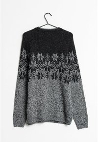 Next - Stickad tröja - black - 1