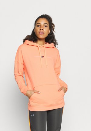 RELAXED GRAPHIC HOODIE - Mikina - lumen neon coral