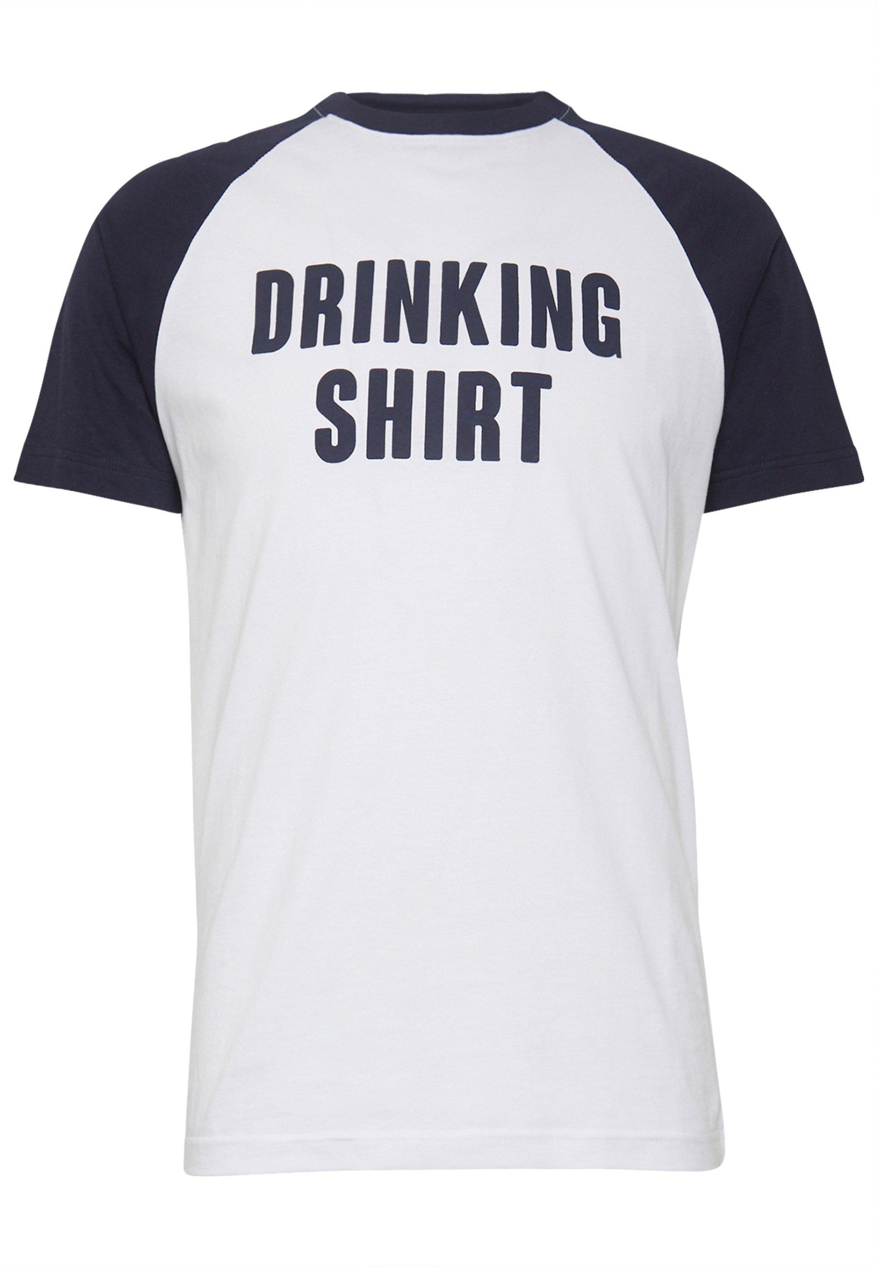 Brave Soul Fluorite - T-shirts Med Print White/navy/hvit