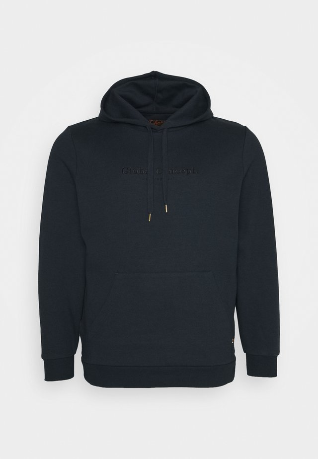 GLOBAL CONCEPT HOODIE - Sweatshirt - navy