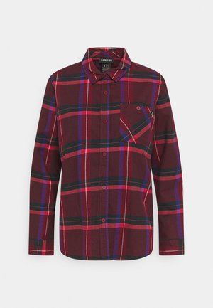 GRACE - Button-down blouse - dark red