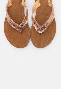 Tamaris - SLIDES - T-bar sandals - rose gold - 5