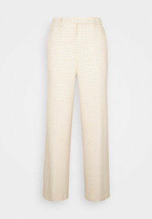 JUNA - Trousers - houndstooth cream