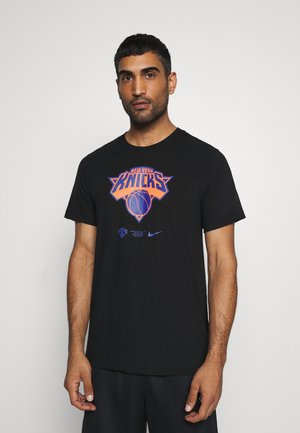 NBA NEW YORK KNICKS DRY LOGO TEE - Club wear - black