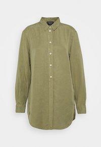 Marc O'Polo - BLOUSE LONG SLEEVE - Skjortekjole - dried sage - 0